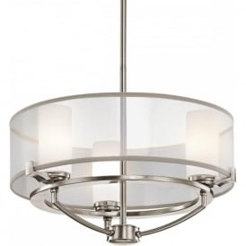 SALDANA dual mount modern pewter ceiling light