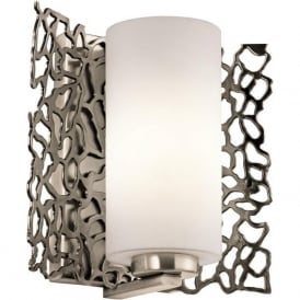 SILVER CORAL modern pewter wall light