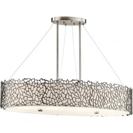 SILVER CORAL oval kitchen island pendant light