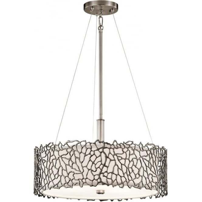 Dual mount ceiling light for high or low ceilings in pewter silver coral silver coral pendant or semi flush fitting pewter ceiling light aloadofball Gallery