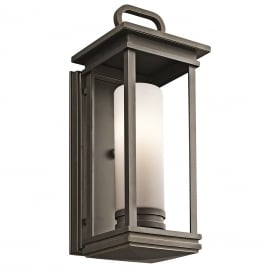 SOUTH HOPE traditional outdoor wall lantern in rubbed bronze - medium