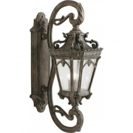 TOURNAI GRAND large Gothic style bronze garden wall lantern