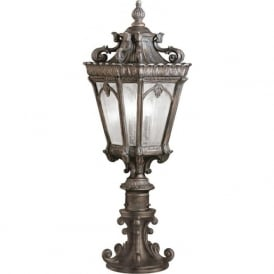 TOURNAI traditional Victorian Gothic style garden gate post lantern - large