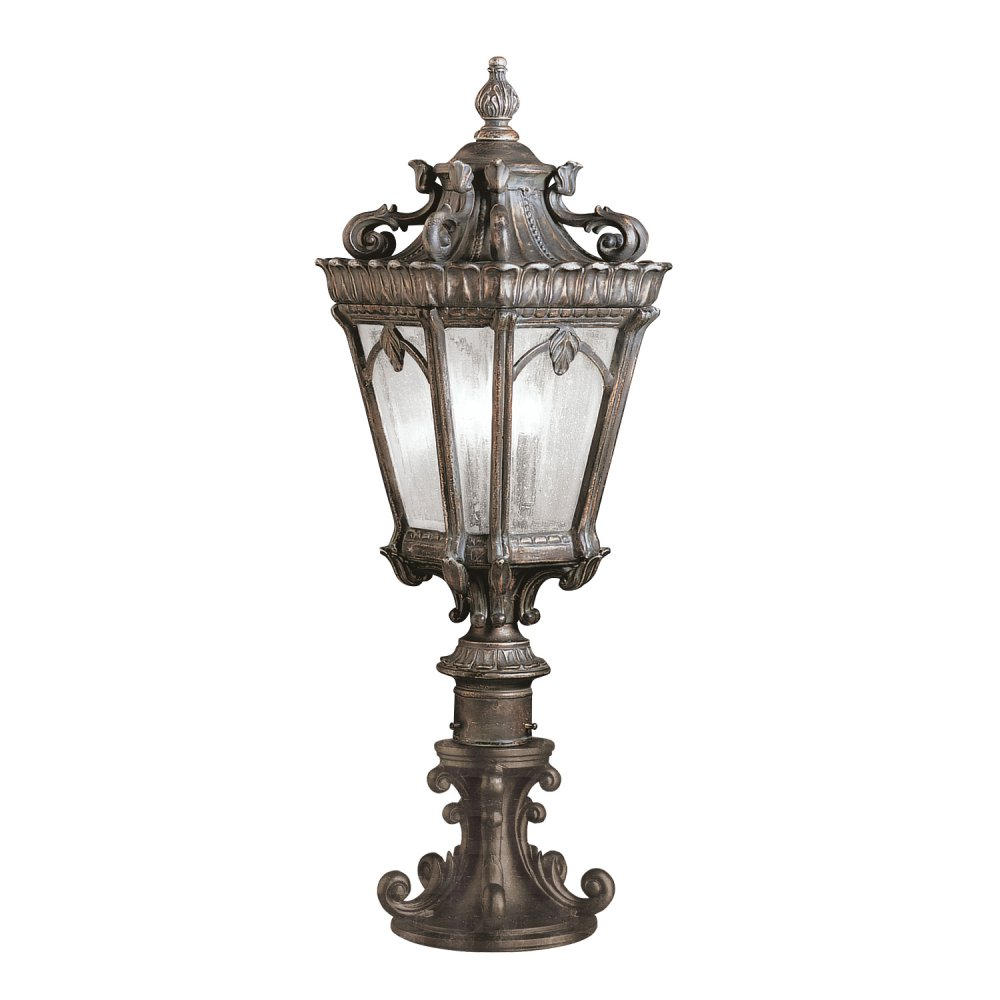 Gate Post Lantern Or Pedestal Light Cast Aluminium With Gothic Detail