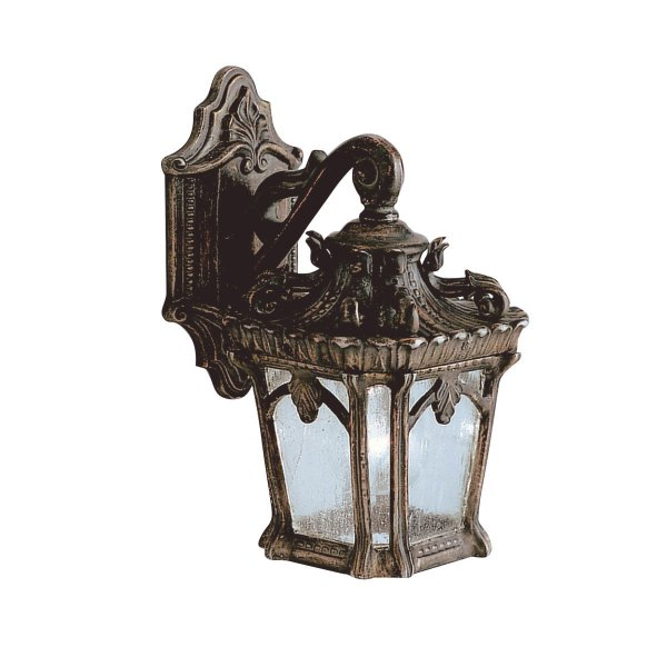 ip44 small outdoor wall lantern with ornate bronze gothic