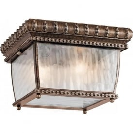 VENETIAN RAIN flush fitting outdoor porch ceiling light