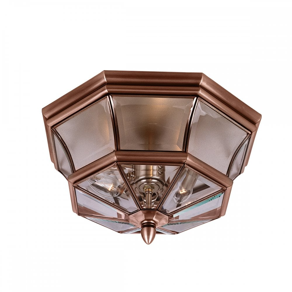 Coppper Flush Fitting Traditional Indoor Or Outdoor Porch Ceiling Light