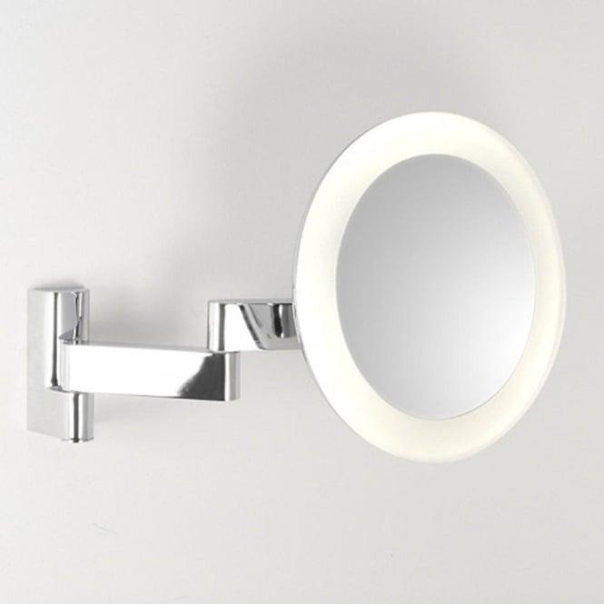 Led Lit Small Adjustable Bathroom Magnifyling Mirror For Bathroom Ip44
