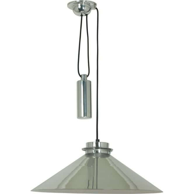 Pull Up And Down Ceiling Pendant Light In Modern Polished