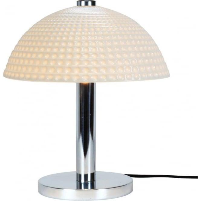 Original Btc Cosmo Modern Art Deco Table Light With Dimpled White Bone China Shade