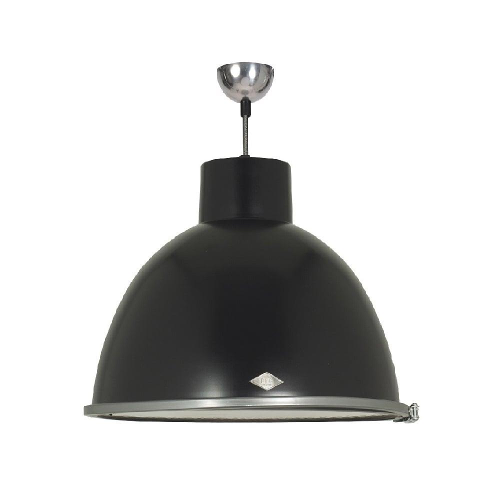 Black Painted Metal Ceiling Pendant In Vintage Industrial