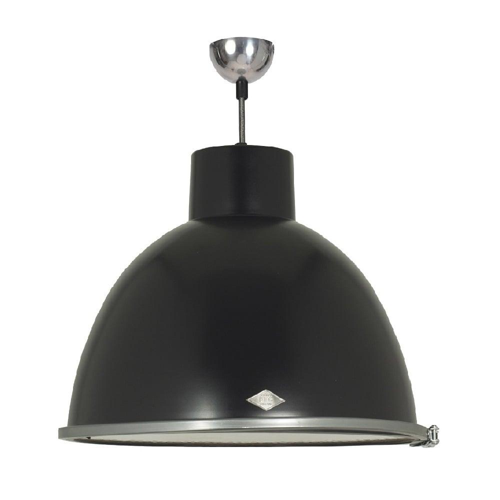 Industrial Rustic Black Painted Metal Ceiling Pendant With