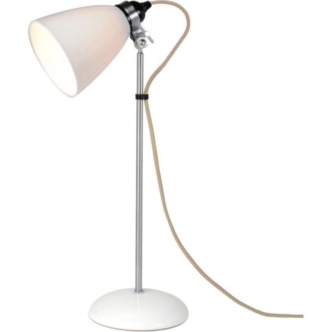 Ceramic white desk lamp or bedside table lamp from original btc hector dome natural white bone china table lamp or desk light medium aloadofball Image collections
