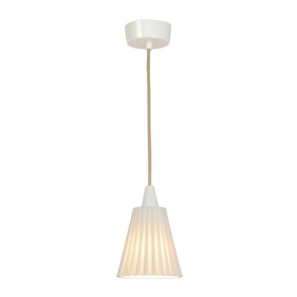 Original Btc Hector Pleat White Ceiling Pendant Light With