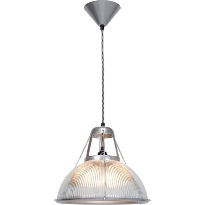 PHANE Modern Prismatic Ribbed Glass Ceiling Pendant Light
