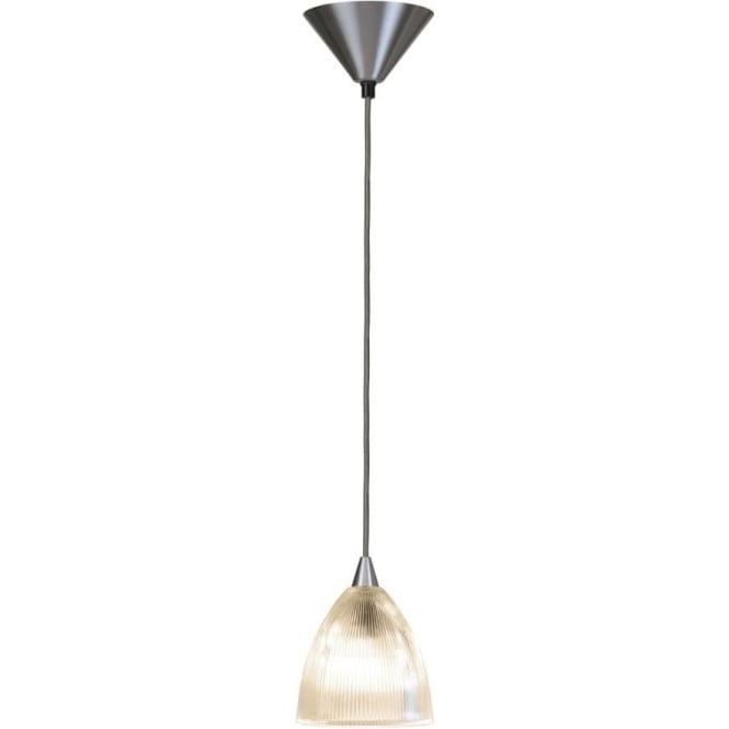 Prismatic Glass Ceiling Lights Small Ribbed Pendant Light