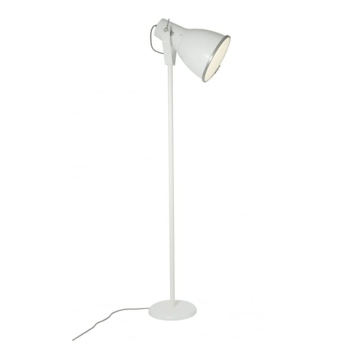Standard Shop Lights: White Aluminium Floor Standing Lamp With Adjustable