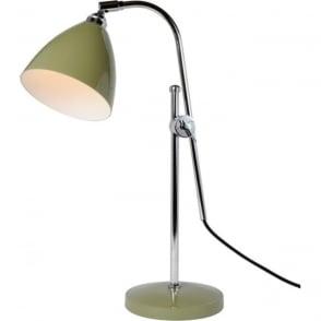 task modern olive green desk lamp with adjustable cantilever arm