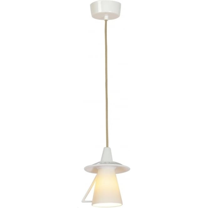 Whimsical China Ceiling Pendant Light With White Teacup