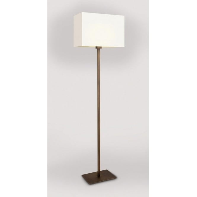 PARK LANE bronze floor lamp with white shade