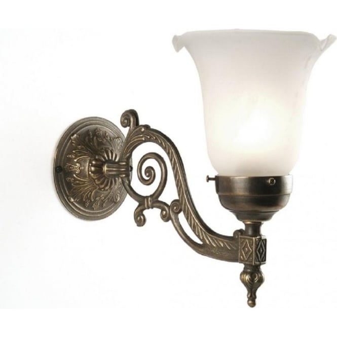 Edwardian style wall light choice of shades dark aged brass fitting albert traditional edwardian or victorian wall light aloadofball Images