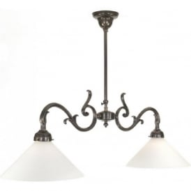 DRAKE traditional kitchen ceiling pendant with two lights