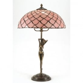 ELIZABETTA Art Nouveau large Tiffany table lamp