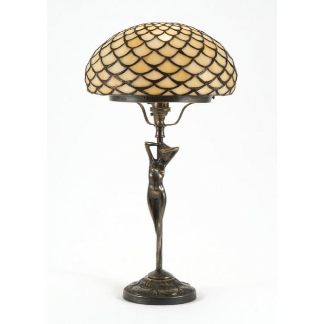 Period Lighting Collection ELIZABETTA Art Nouveau Tiffany table lamp
