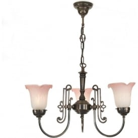 ETON 3 light Victorian or Edwardian ceiling light