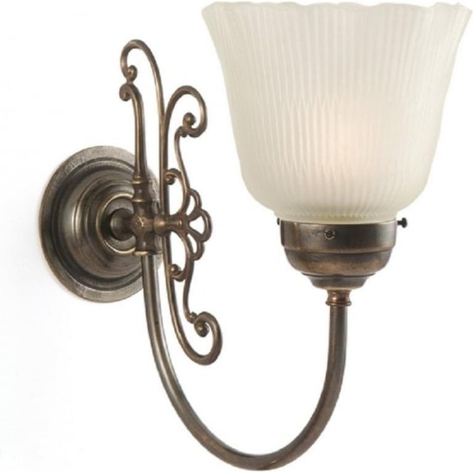 Period Lighting Collection ETON reproduction Victorian aged brass wall light