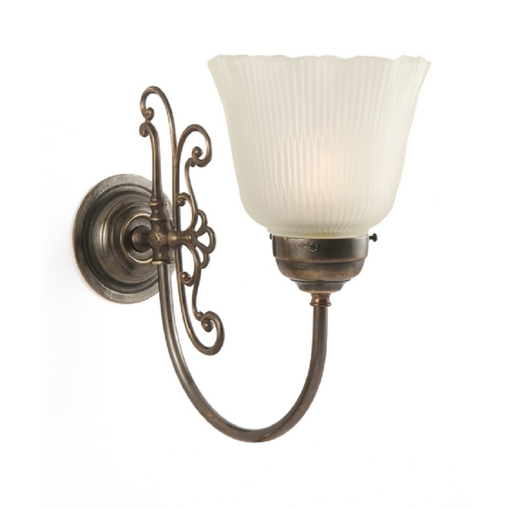 Victorian Single Wall Light Made In UK From Solid Aged Brass