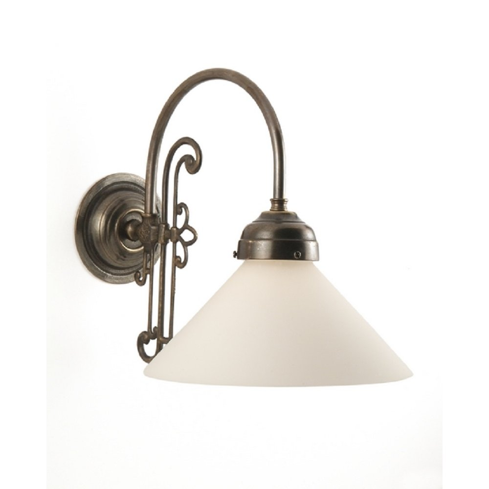 Edwardian Period Wall Lights : Classic British Made Single Wall Light with Choice of Shades