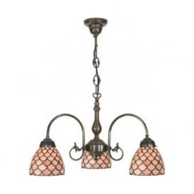 FREDA replica Victorian ceiling light with Tiffany shades