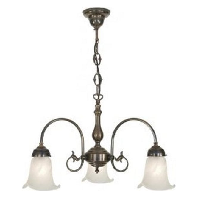 Period Lighting Collection FREDA Victorian ceiling light with alabaster glass shades