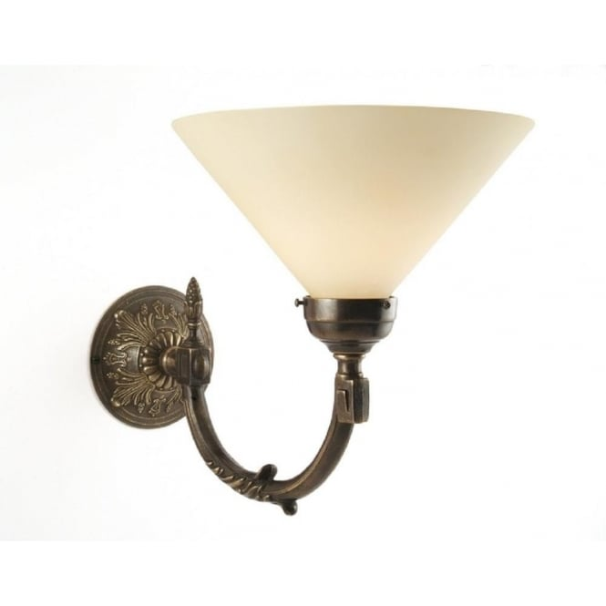 Period Lighting Collection GEORGIAN aged brass traditional period wall light with shade