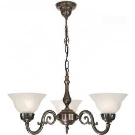 GRANDE aged brass Victorian ceiling light