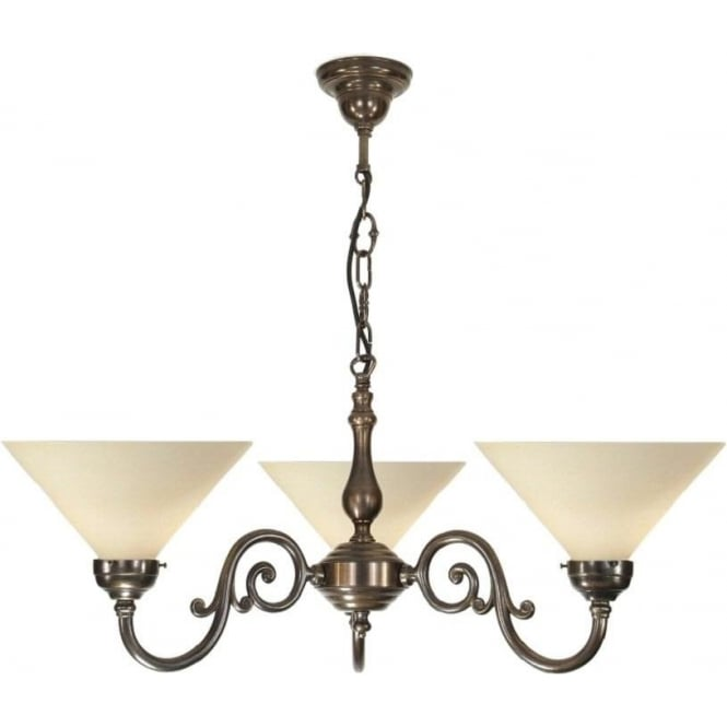 Victorian Ceiling Pendant Light In Aged Solid Brass With