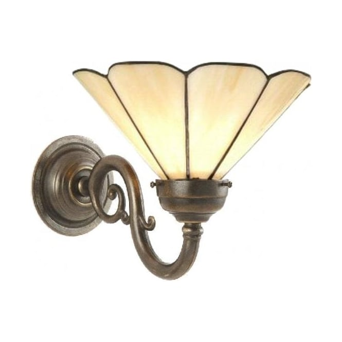Replica victorian or edwardian period wall light with tiffany shade grande traditional victorian wall light with tiffany shade aloadofball Images