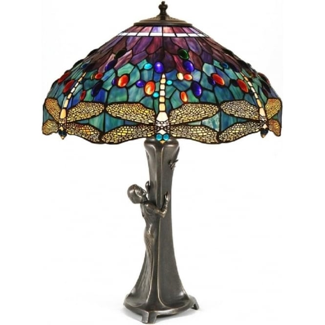 Period Lighting Collection GURSCHNER Art Nouveau Tiffany table lamp