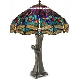 GURSCHNER Art Nouveau Tiffany table lamp