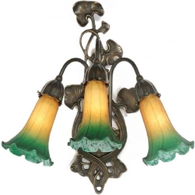Decorative Art Nouveau Style Victorian Wall Light Green