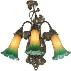 LILY Art Nouveau style Victorian 3 light wall sconce