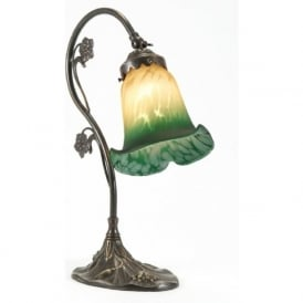 Traditional table lamps victorian and edwardian lamps bankers lamps lily edwardian art nouveau aged brass table lamp aloadofball Images