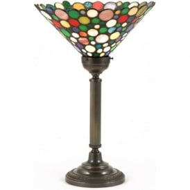 NELSON multi-coloured uplighter Tiffany table lamp