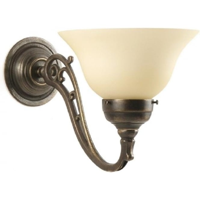 Wall Light Fitting in Tradtional Style with Choice of Glass Shades