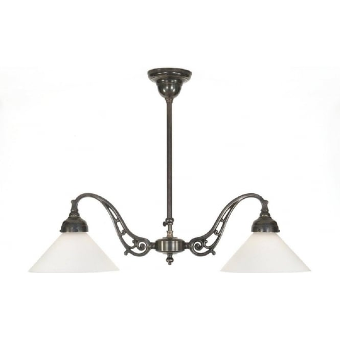 Traditional Over Table Or Kitchen Island Light In Aged Brass