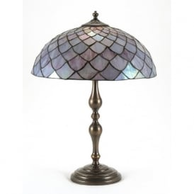 TIFFANY table lamp with aged brass base