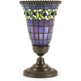 TIFFANY uplighter stained glass table lamp