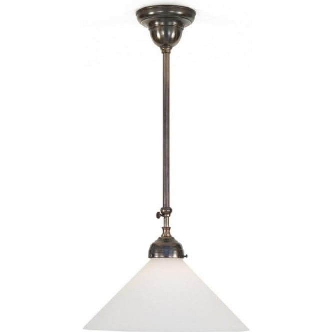 Period Lighting Collection TRADITIONAL hanging ceiling pendant light in aged brass