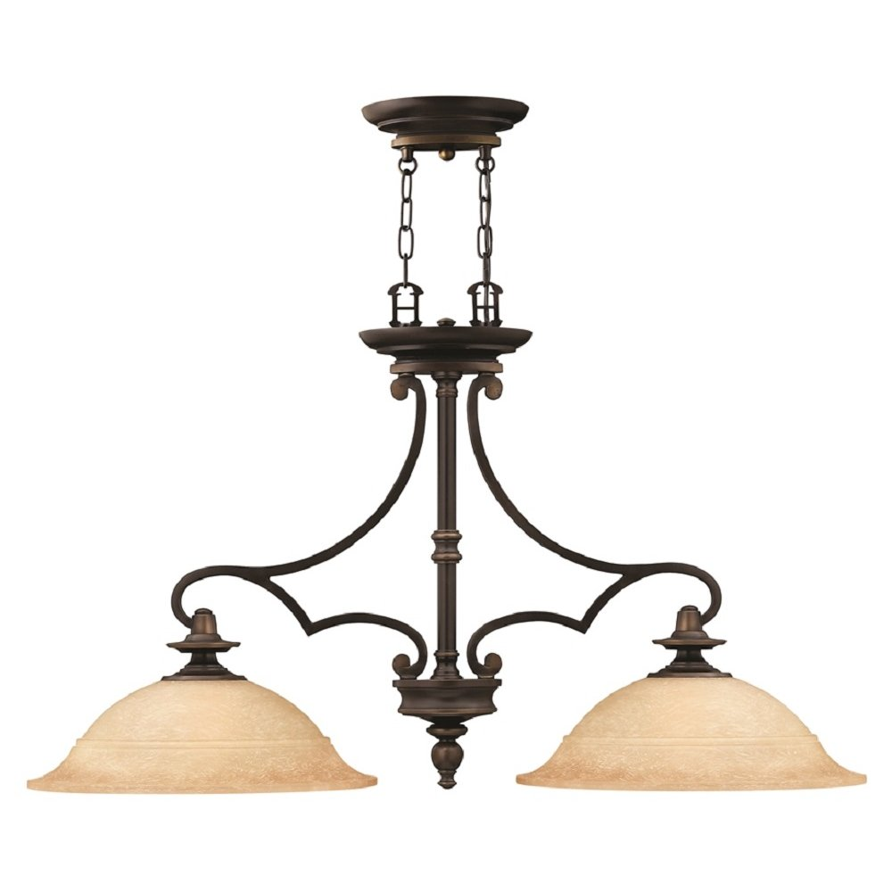 Oil Rubbed Bronze Kitchen Island Pendant With Mocha Glass Shades